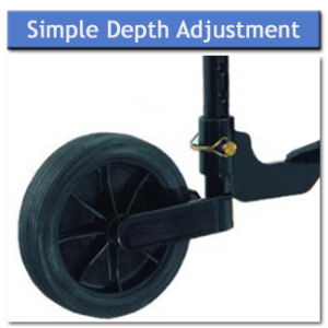 Rotary Plough Simple Depth Adjustment