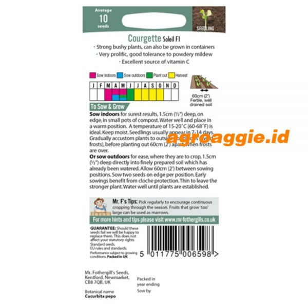 108564 Courgette Soleil F12